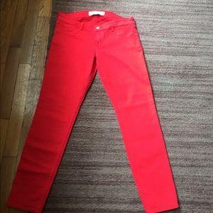 New Abercrombie red deniem straight leg jeans